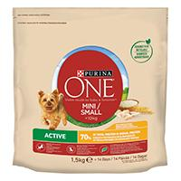 Purina ONE Small Dog -kuivaruoka pienille koirille < 10 kg Active