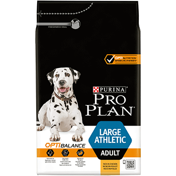 ​PURINA® PRO PLAN® Large Athletic Adult with OPTIBALANCE™ Sisältää runsaasti Kanaa