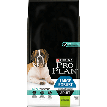 ​PURINA® PRO PLAN® Large Robust Adult Sensitive Digestion with OPTIDIGEST® Sisältää runsaasti lammasta