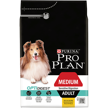 ​PURINA® PRO PLAN® Medium Adult Sensitive Digestion with OPTIDIGEST® Sisältää runsaasti lammasta