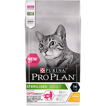 PURINA® PRO PLAN® STERILISED Adult 1+ Years with OPTIDIGEST™ Rich in Chicken